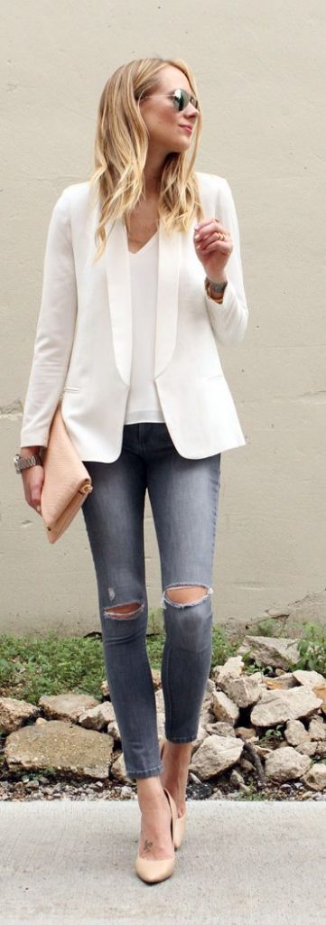 Shirt and jeans outfit