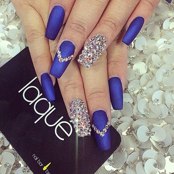 Royal Blue Nails Designs