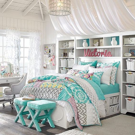 Bedroom teens decor Teenage room ideas small space