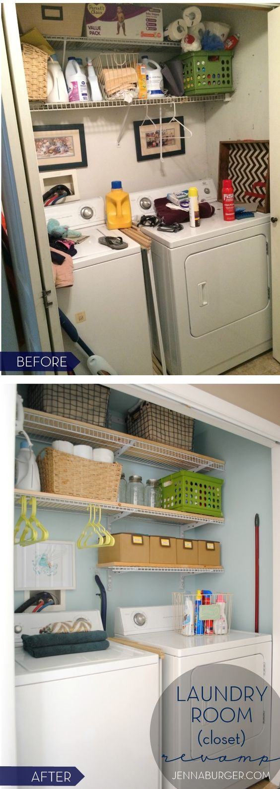 Conventional laundry room shelving cabinets