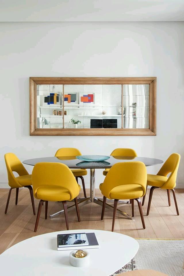interior design in mustard