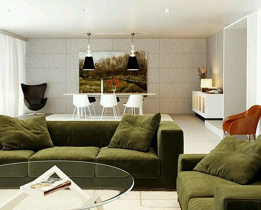 Interior Design In Olive Green Military