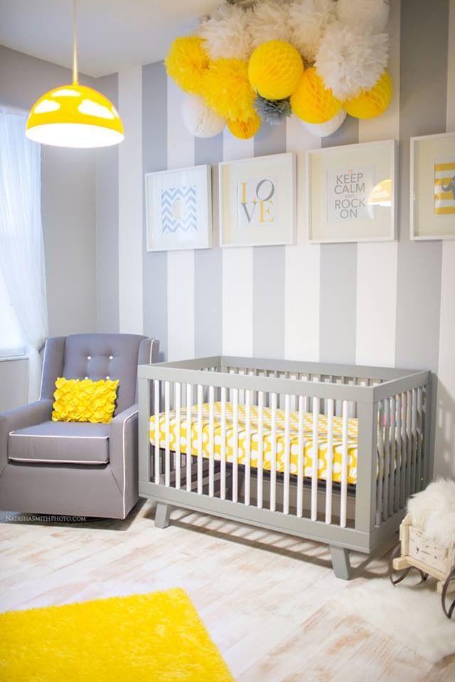 Gray crib