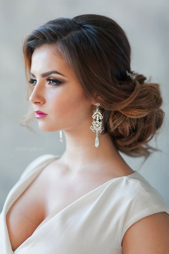 Ideas glamorous hairstyles for brides or bridesmaids