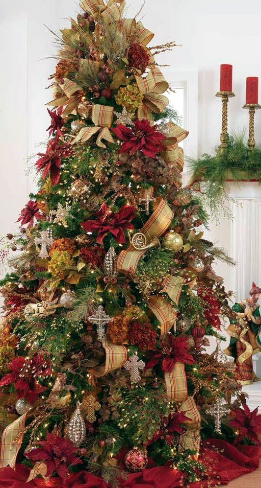 Tall Christmas Tree Decorating Ideas.Ideas To Decorate Your Christmas Pine 2016 2017 13 How To