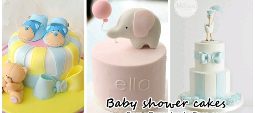 beautiful cakes for baby shower