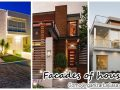 Design facades of houses 3 bedrooms or more