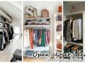 Open closet excellent idea to organize in small spaces