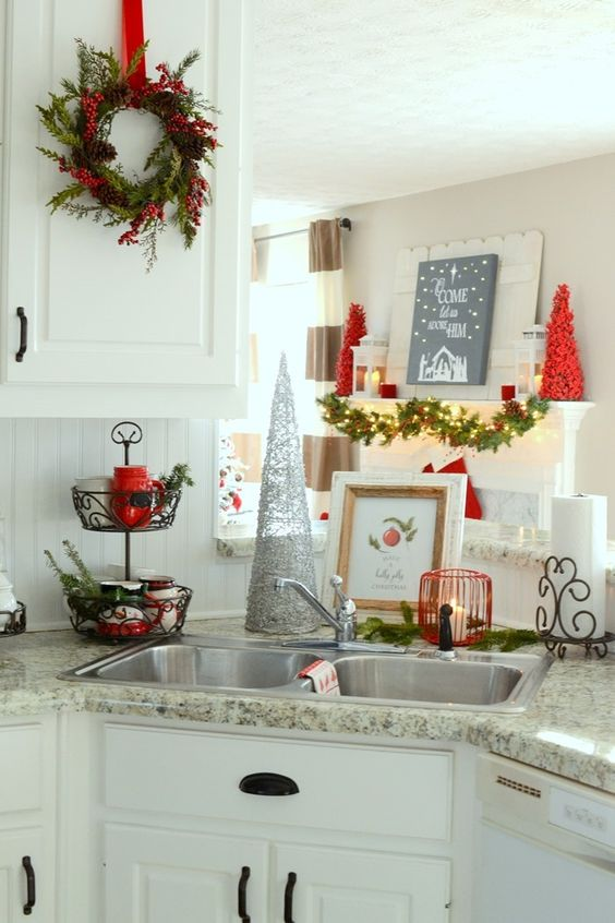 Ideas For Decorating Your Kitchen This Christmas 2016 2017 17 How To Organize
