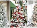 Christmas pine decoration with snow