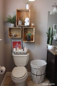 27 shelves and cabinets for bathrooms