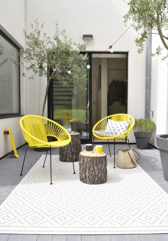 28 furniture proposals to decorate your terrace or garden - Decoratie terrace ...