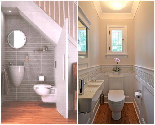 Lighting Basement Washroom Stairs: 34 Bathroom Designs Under The Stairs