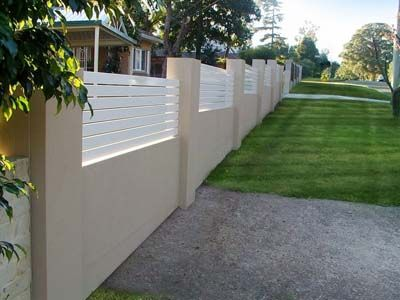 Cement Fence Designs Home 17 How To Organize