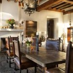 Decoration of rustic dining rooms