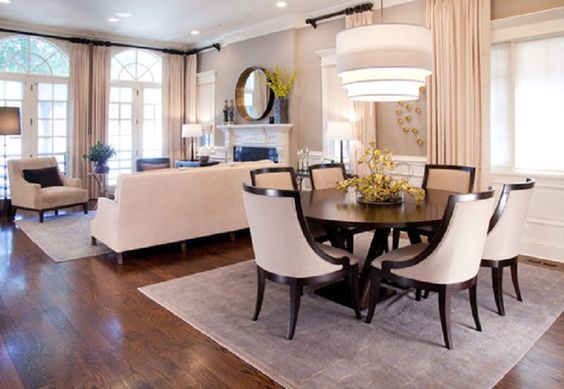 Dining room decor and room together in small space