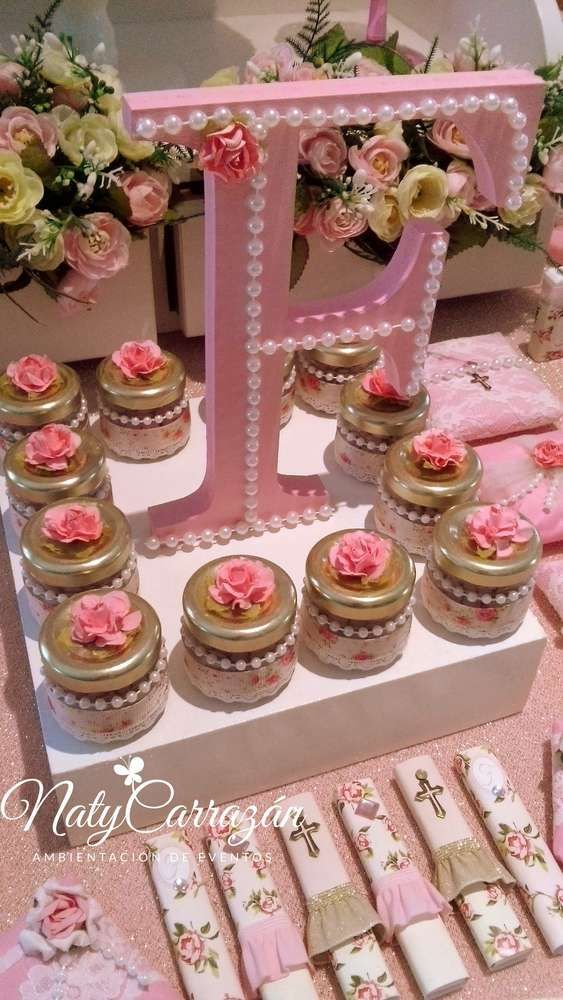 Ideas for a girl 39 s christening how to organize for Baby girl baptism decoration ideas