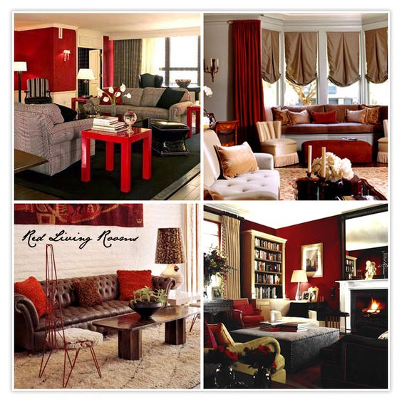 Red And Brown Interior Decoration How To Organize