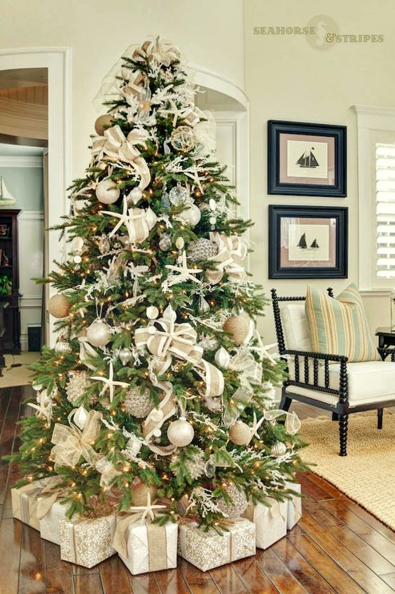 trends-decorate-christmas-tree-2017-2018 (17) - How to organize