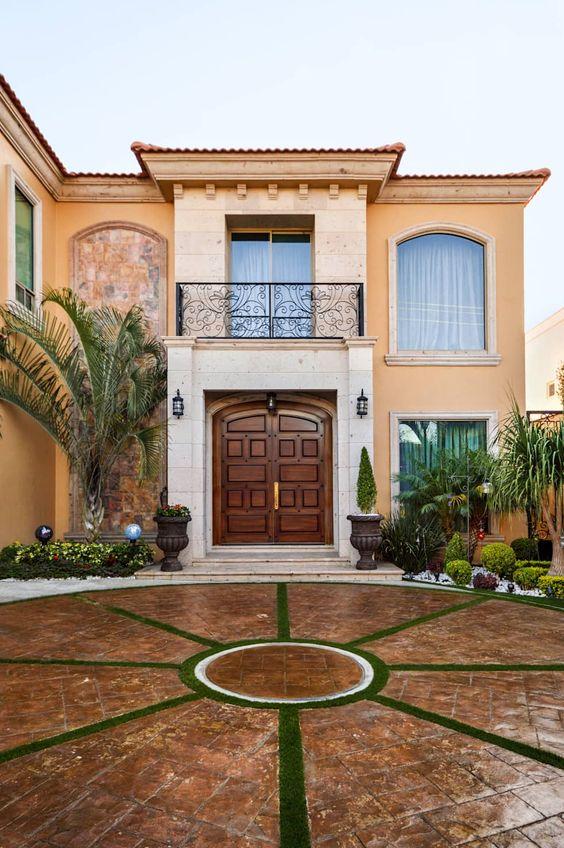 27 floor designs for the patio and the entrance of your home - Fotos de patios de casas ...