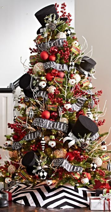 christmas 2017 decor trends - 2017 Christmas Tree Decorating Trends