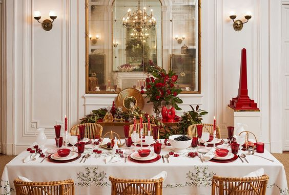 ideas to decorate your table at the christmas dinner 2017 2018 - Christmas Dinner Decorations