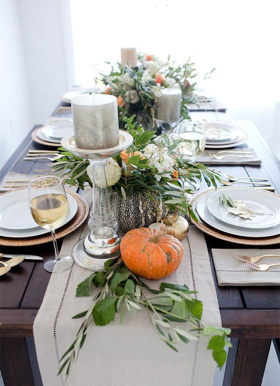 Ideas to decorate the table in thanksgiving