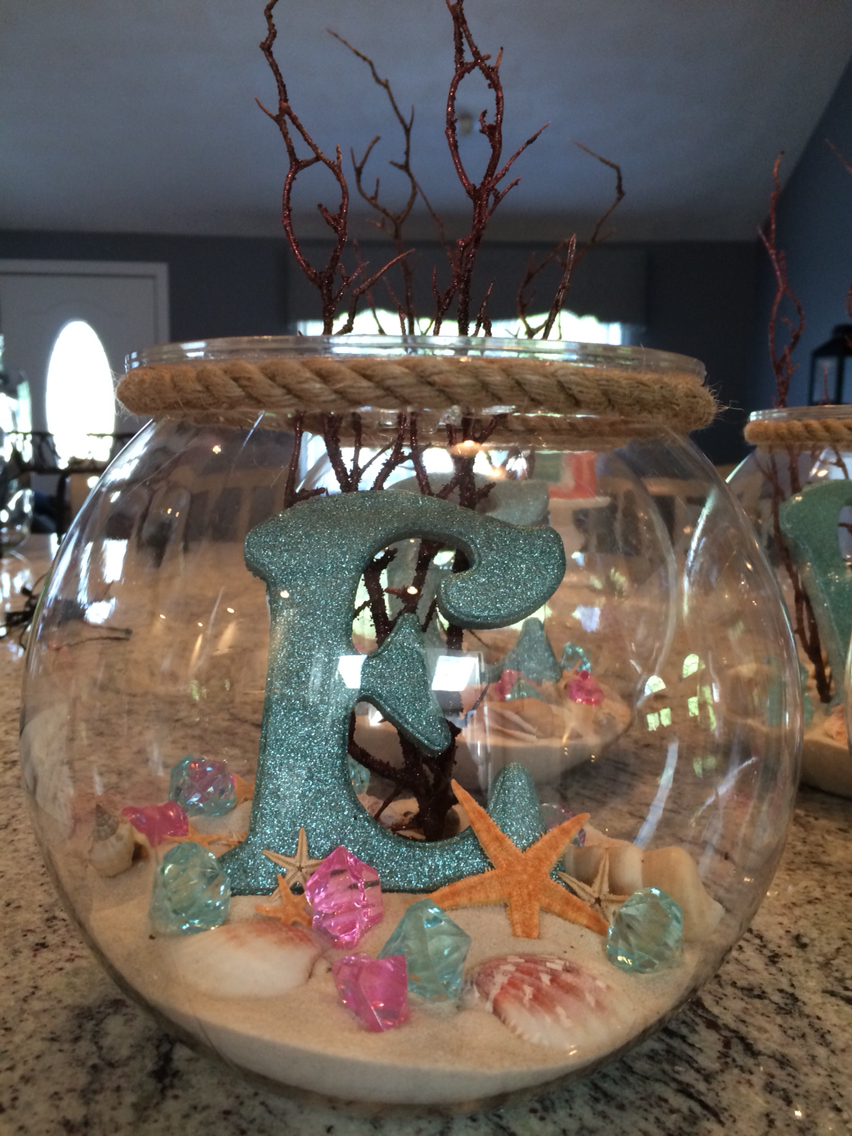 Centerpieces for party of moana
