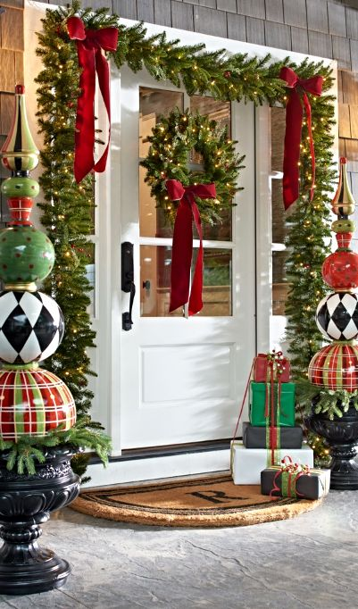 How to decorate entrance this Christmas 2017