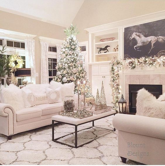 you can choose a single range of colors to decorate your entire room as in this image above that predominates in white and details in gold what do you