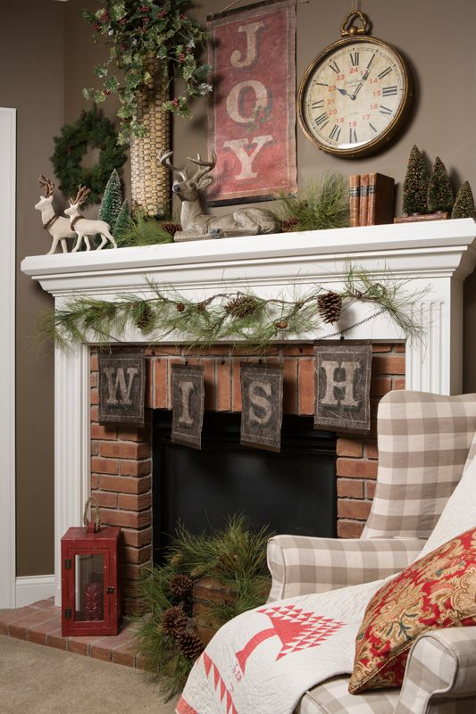 how to decorate fireplaces in christmas