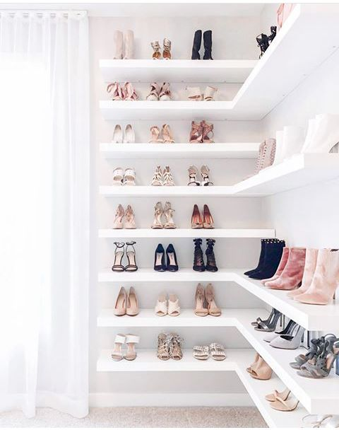 Ideas for organizing shoes