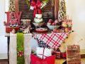 Ideas for setting up a dessert table at Christmas