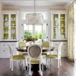 Magnificent dining room decoration with round tables for What to put on dining room table for decoration