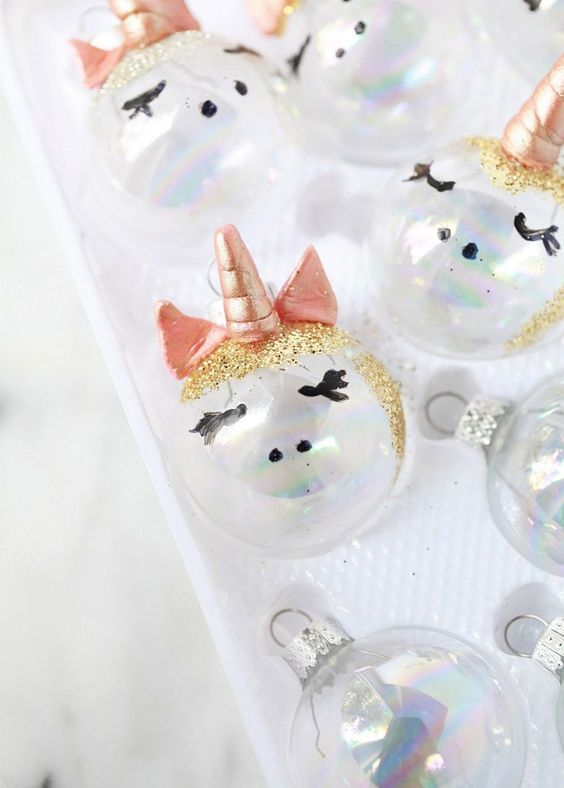 christmas decoration with unicorns christmas decoration - Unicorn Christmas Decorations