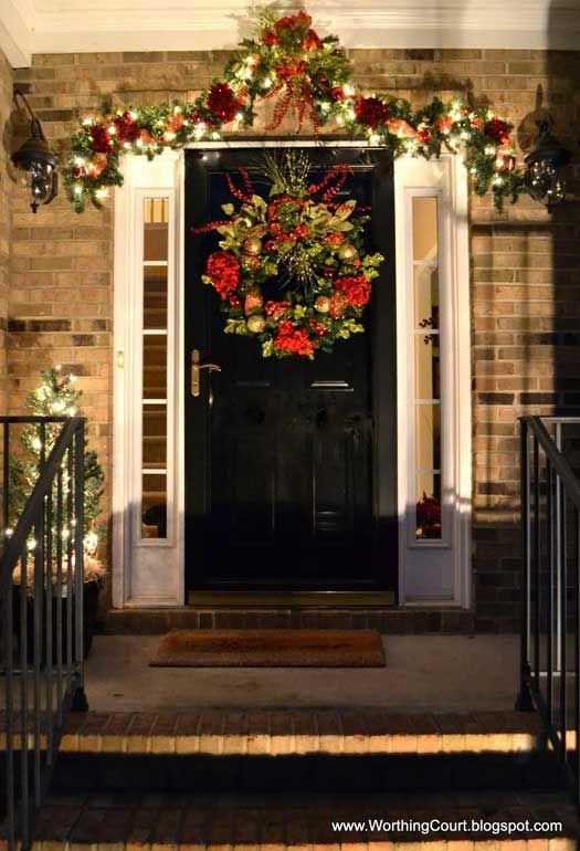 Ideas Decorate Entrance Christmas 2017