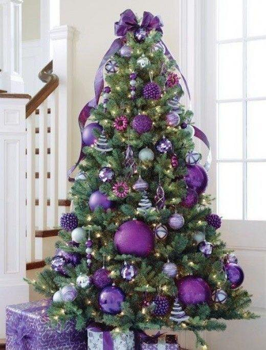 christmas decoration ideas 2017 2018 in purple 7 - Christmas Decorations Ideas 2017