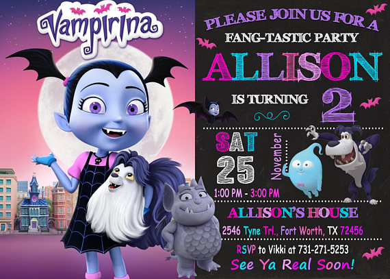 themed party vampirina
