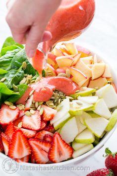Espinaca fresas variedad de manzanas y semillas