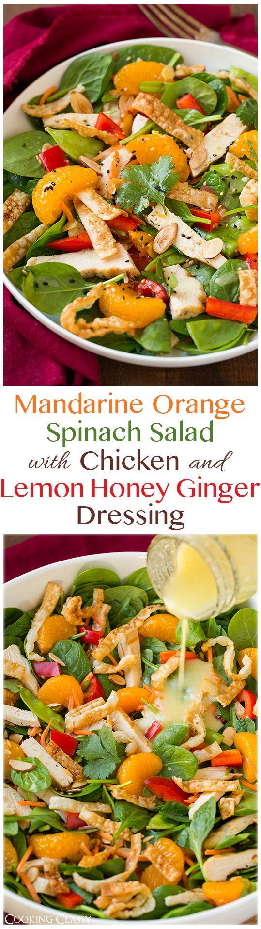 mandarina naranja espinaca
