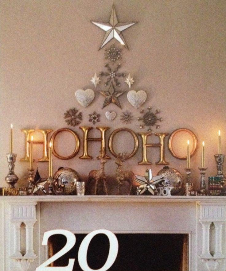 Decoracion de navidad beige dorado