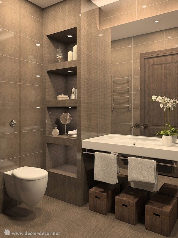 Como decorar un baño en tonos chocolates | Decoracion de interiores ...