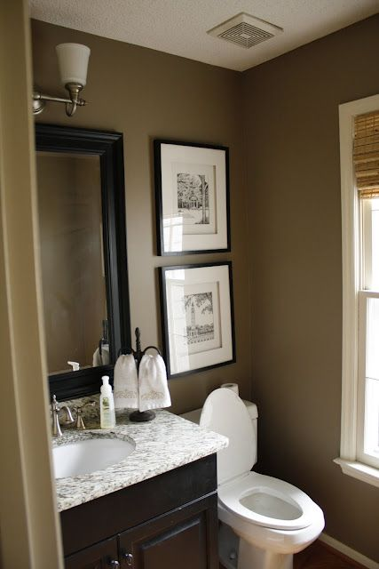 Organizacion Baño Pequeno:Small Half Bath Bathroom Paint Color Ideas