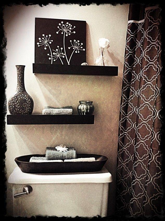 Como decorar un ba o en tonos chocolates - Como decorar un bano blanco ...