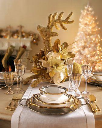 decoracion-mesa-navidad-beige-dorado