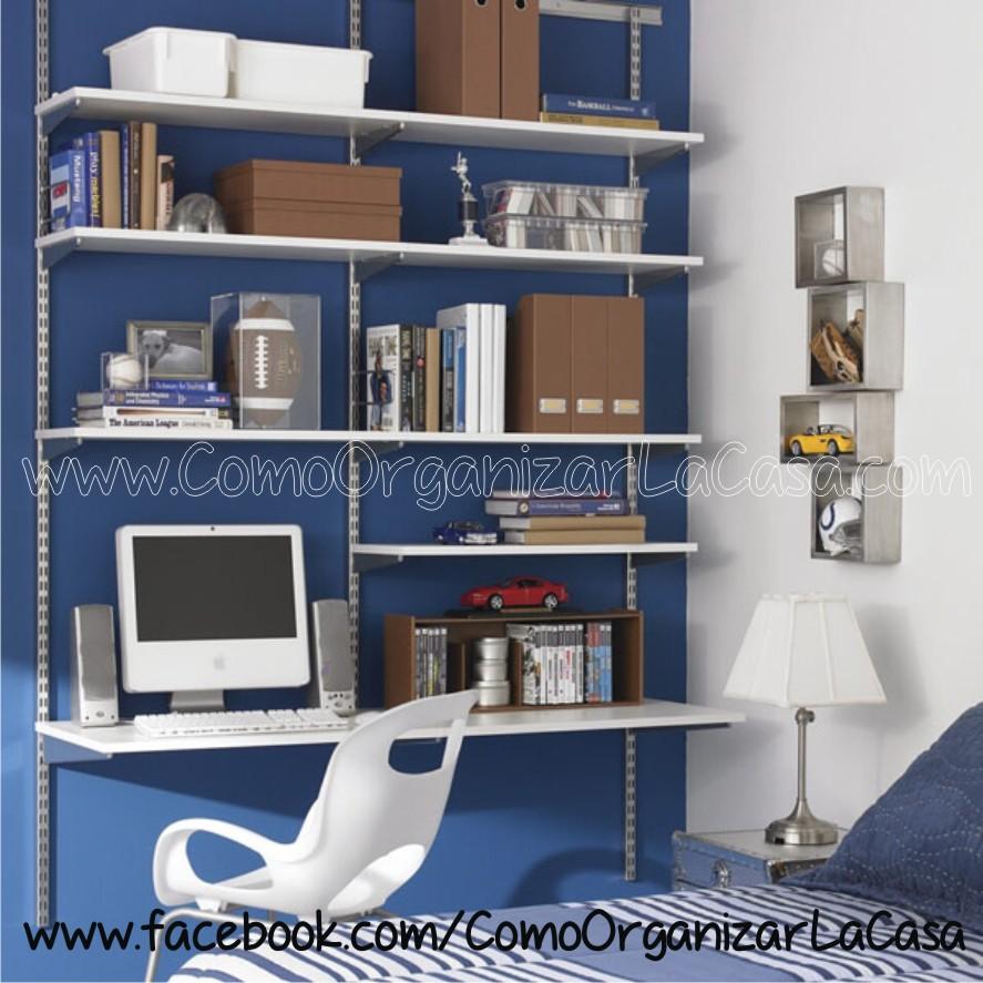 Como organizar habitacion de un adolescente - Estantes funcionales ...