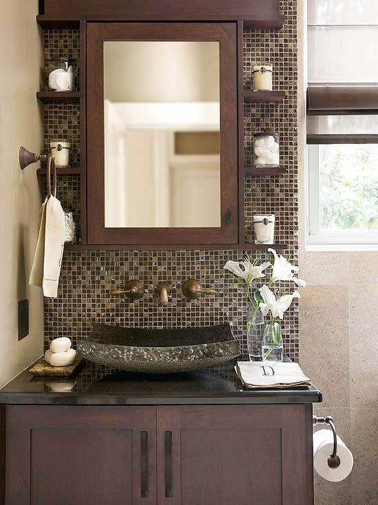 Como decorar un baño en tonos chocolates