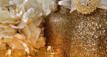 Decoracion para navidad en color Beige y dorado