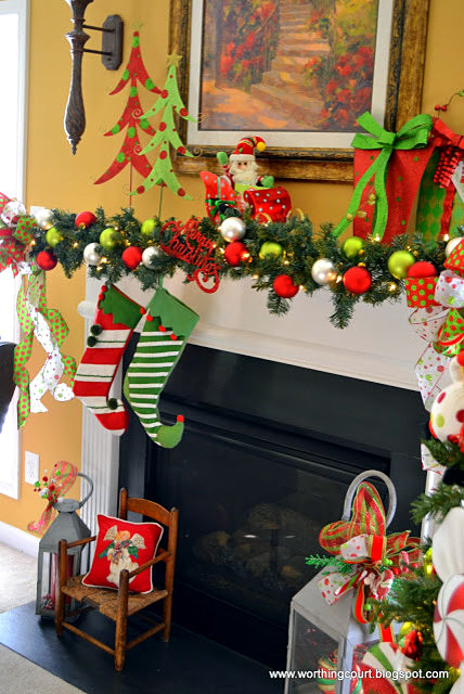 Para decorar chimeneas en navidad