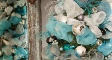 Como decorar un arbol de Navidad Azul Plata y Blanco